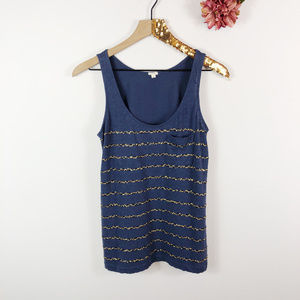 [J. CREW] Sleeveless Tank Top Sequin Stripes